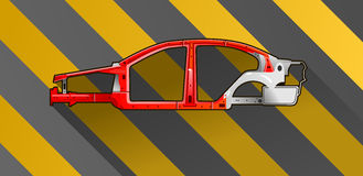 Car frame Royalty Free Stock Photos