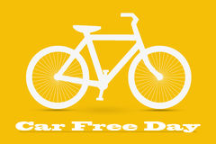 Car Free Day concept illustration Royalty Free Stock Photos