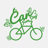 Car Free Day Concept. Car Free Day Concept Vector Illustration stock illustration