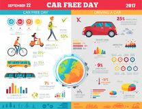Free Car Free Day On September 22 Infographic Poster Royalty Free Stock Photos - 104320388