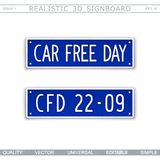 Car Free Day. 22 september Royalty Free Stock Photos