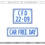 Car Free Day. 22 september Royalty Free Stock Photo