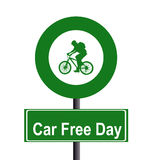 Car free day. Sign on the white background stock illustration
