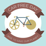 Car Free Day. Vector Illustration vector illustration