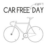 Car Free Everyday White. For Car Free Day Campaign royalty free illustration