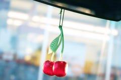 Car freshener. Cherry car freshener stock photos