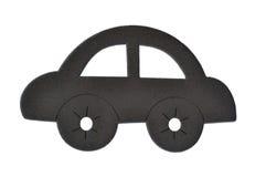 Car Fridge Magnet. Wood bronw margnet for refrigerator Royalty Free Stock Image