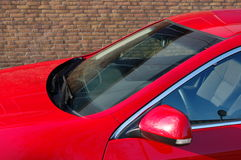 Car front. The front of  a red car Royalty Free Stock Image