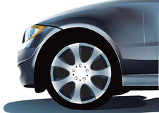 Car front. The  illustration of car front part Royalty Free Stock Image