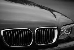 Car front end. Front end of a luxury vehicle Royalty Free Stock Photo