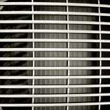 Car front grating. Horizontal riveted metal background texture Stock Photography