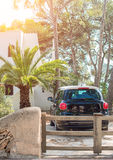 Car in front of house. Royalty Free Stock Photo