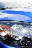 Car front lights Stock Photo