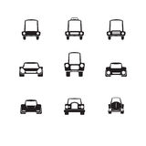 Car front side icons vector Royalty Free Stock Photography