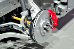 Free Car Front Suspension. Stock Photo - 59986980