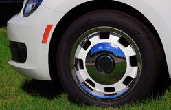 Car Front Tire Stock Photo