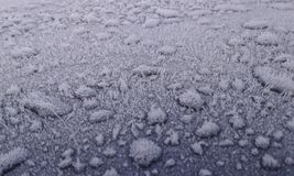 Car frost. Frost on roof of car. Maidstone. Kent. December 2016 Stock Images