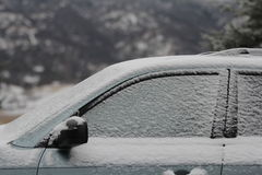 Car with frost and snow. Stock Images