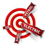 Car Fuel Achieve Objectives. Eco Concept Vector Illustration Royalty Free Stock Image