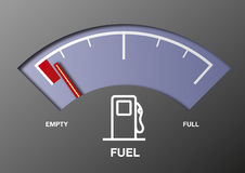 Car fuel gauge. Illustration of a fuel gauge in a car Stock Photo