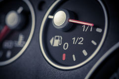 Car fuel gauge Royalty Free Stock Photo
