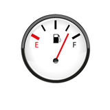 Car fuel gauge Stock Photography