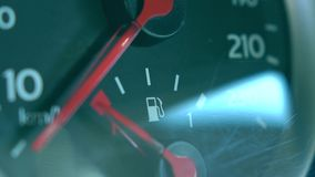 Car fuel gauge macro shot Stock Photo