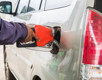 Car fuel refilling Stock Photography