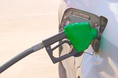 Car fuel up at gas station. Stock Images