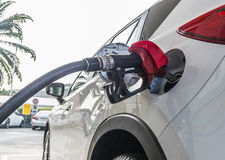 Car Fueling. Fueling in car at gas station Stock Photography