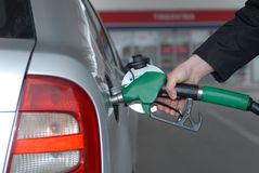 Car fueling at the gas station Stock Photography