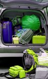 Car full of luggage bags. And travel bags Royalty Free Stock Photo