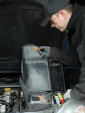 Car fuse check Stock Photo