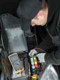 Car fuse inspection Royalty Free Stock Images