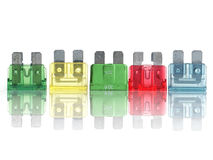 Car fuses Royalty Free Stock Image