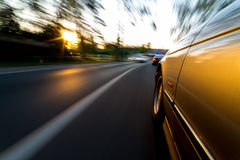 Car fust ride on road. Stock Images