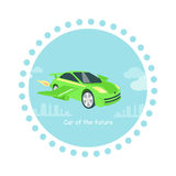 Car of Future Icon Flat Isolated Royalty Free Stock Photo