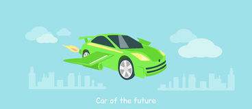 Car of Future Icon Flat Isolated Stock Photo