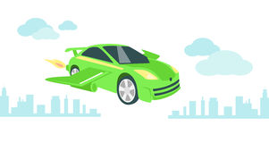 Car of Future Icon Flat Isolated Royalty Free Stock Image
