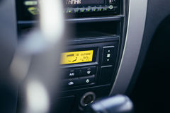 Car gage panel. Interior inside view with automatic transmission stock photography