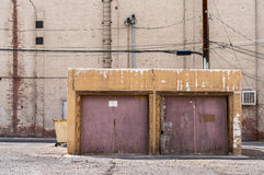 2-Car garage in the city Royalty Free Stock Image