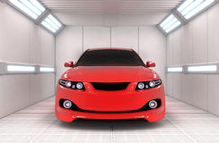 Car in garage Stock Images