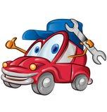 Car garage symbol cartoon Stock Image