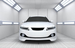 Car in garage Stock Photos