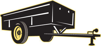 Car garden utility trailer side stock illustration