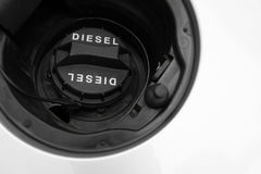 Car gas oil the cap of a tank Royalty Free Stock Images