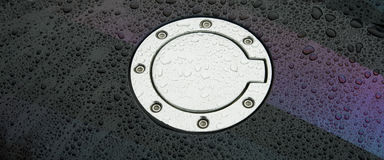 Car gas tank close-up Royalty Free Stock Photos