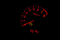 Car gauge speed Stock Images