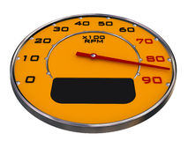 Car gauges. Orangeblack red and chrome on white Stock Image