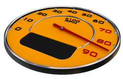 Car gauges. Yellow carbon and chrome on white Stock Photo